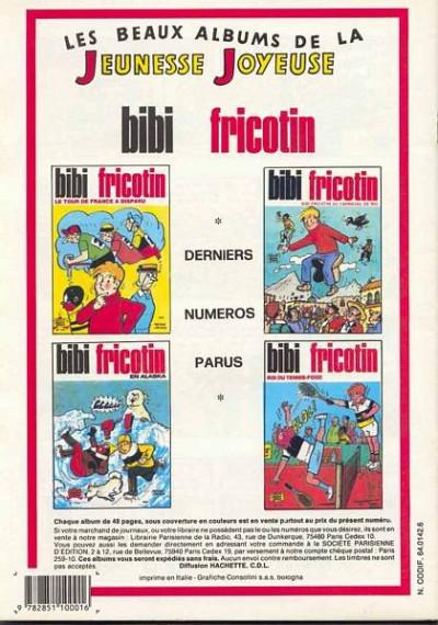 Dos Les Pieds Nickelés (3e série) (1946-1988) tome 46 - Les Pieds Nickelés diseurs de bonne aventure