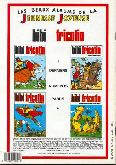 Dos Les Pieds Nickelés (3e série) (1946-1988) tome 26 - Les Pieds Nickelés s'évadent