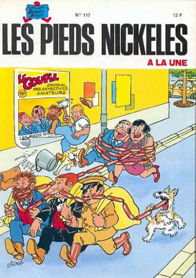 Couverture Les Pieds Nickelés (3e série) (1946-1988) tome 117 - Les Pieds Nickelés à la Une