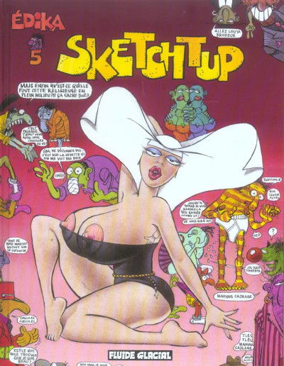 Couverture edika tome 5 - sketchtup