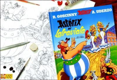 Couverture astérix - hors collection astérix tome 5 - astérix et la traviata - crayonnés