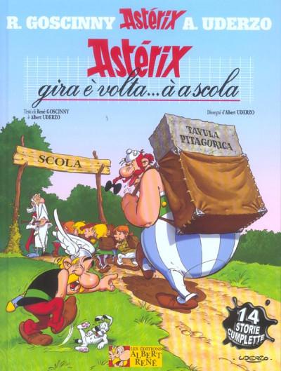 Couverture Asterix gira è volta... à a scola