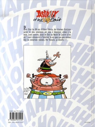 Dos astérix ; et ses amis - Hommage à Uderzo