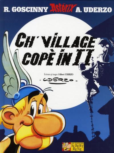 Couverture astérix ; le grand fossé ; ch' village copè in ii (en picard)