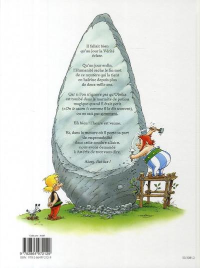 Dos astérix ; comment obélix est tombé dans la marmite du druide quand il était petit