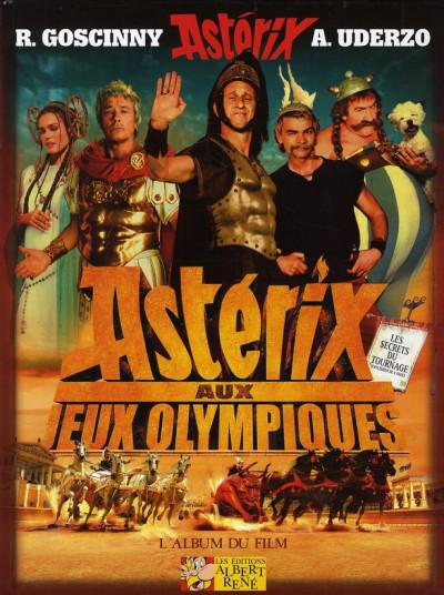 Couverture astérix ; aux jeux olympiques ; l'album du film