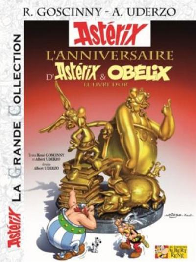 Couverture Astérix tome 34 grande collection - l'anniversaire d'Astérix et Obélix