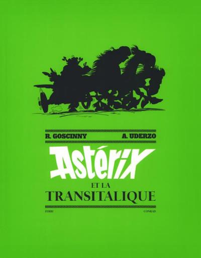 Couverture Astérix - tirage de tête tome 37 - Astérix et la Transitalique