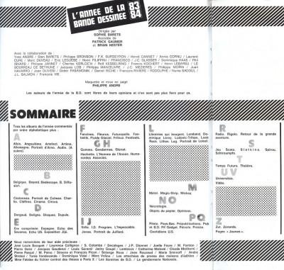 Page 1 Année de la Bande Dessinée (L') (Temps Futurs) tome 3 - L'année de la Bande Dessinée 83-84 (éd. 1983)