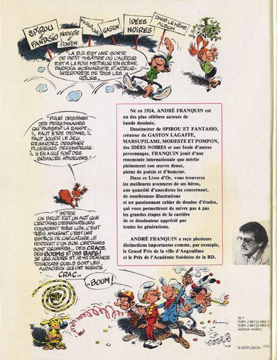 Dos Livre d'or Franquin