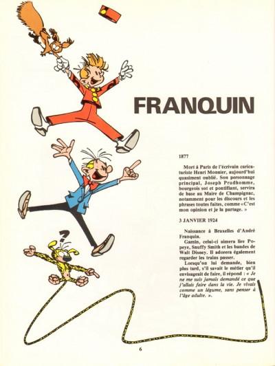 Page 1 Livre d'or Franquin