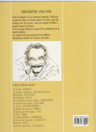 Dos Brassens tome 1 - 1952-1955