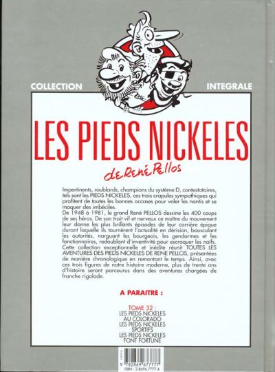 Dos Les pieds nickelés - intégrale tome 31 - lycée