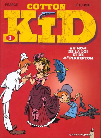 Couverture cotton kid tome 1 - au nom de la loi et de monsieur pinkerton
