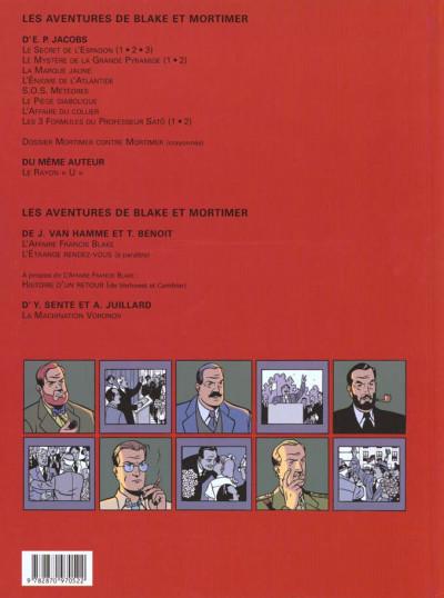 Dos Blake et Mortimer tome 14 - la machination voronov