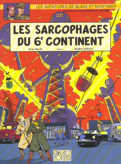 Couverture blake et mortimer tome 16 - les sarcophages du 6e continent tome 1
