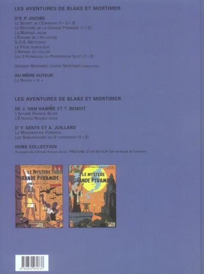 Dos blake et mortimer - le mystère de la grande pyramide tome 1 et tome 2