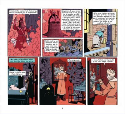 Page 4 Blake et Mortimer ; intégrale ; les sarcophages d'Açoka