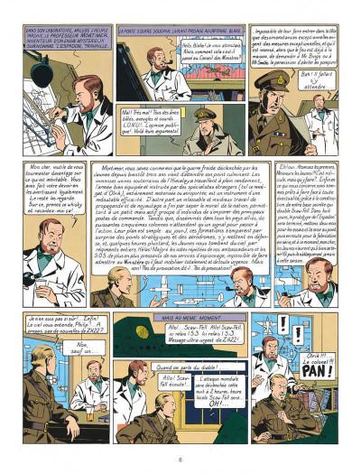 Page 6 Blake et Mortimer tome 1 - le secret de l'espadon - Nouvelle édition