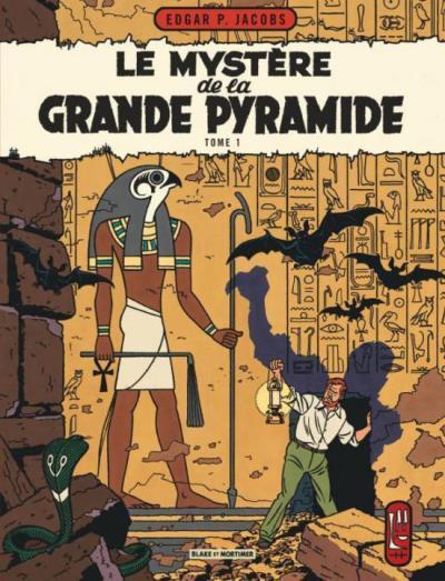 Couverture Blake et Mortimer tome 4 - le mystère de la grande pyramide tome 1 - Nouvelle édition