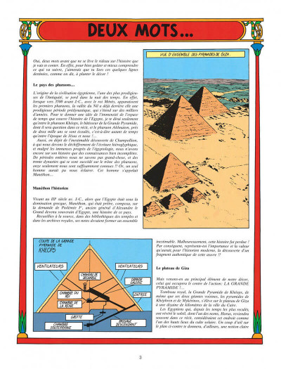 Page 3 Blake et Mortimer tome 4 - le mystère de la grande pyramide tome 1 - Nouvelle édition