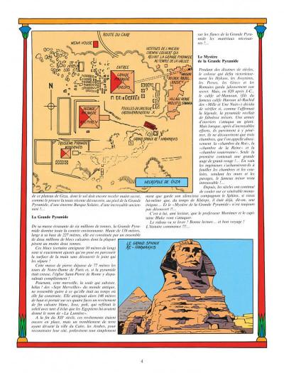 Page 4 Blake et Mortimer tome 4 - le mystère de la grande pyramide tome 1 - Nouvelle édition