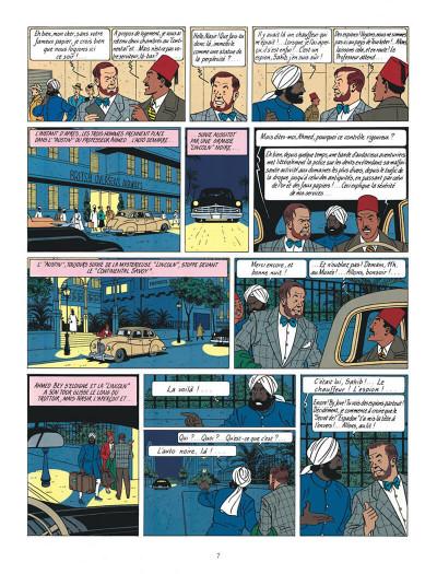 Page 7 Blake et Mortimer tome 4 - le mystère de la grande pyramide tome 1 - Nouvelle édition