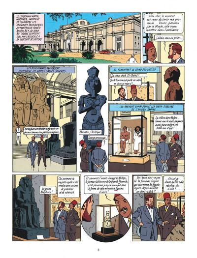 Page 8 Blake et Mortimer tome 4 - le mystère de la grande pyramide tome 1 - Nouvelle édition
