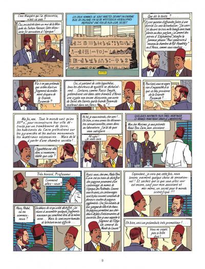 Page 9 Blake et Mortimer tome 4 - le mystère de la grande pyramide tome 1 - Nouvelle édition