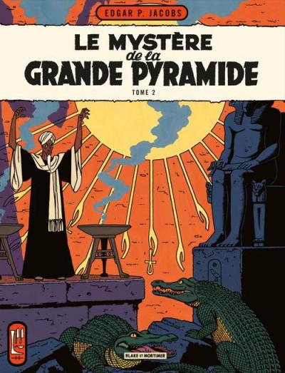Couverture Blake et Mortimer tome 5 - le mystère de la grande pyramide tome 2 - Nouvelle édition