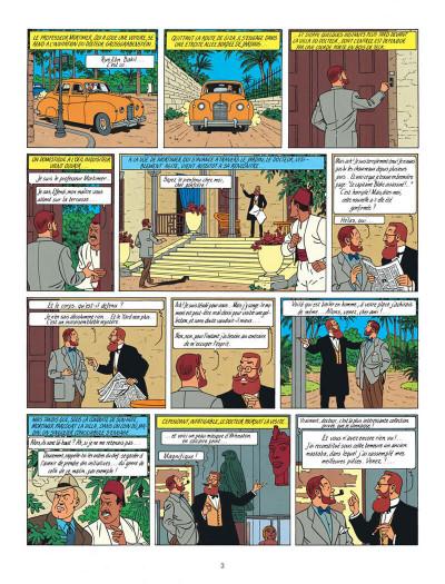 Page 3 Blake et Mortimer tome 5 - le mystère de la grande pyramide tome 2 - Nouvelle édition