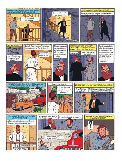 Page 4 Blake et Mortimer tome 5 - le mystère de la grande pyramide tome 2 - Nouvelle édition