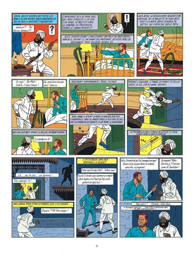 Page 8 Blake et Mortimer tome 5 - le mystère de la grande pyramide tome 2 - Nouvelle édition