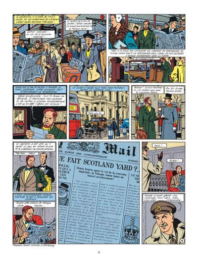 Page 8 Blake et Mortimer tome 6 - la marque jaune - Nouvelle édition