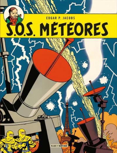 Couverture Blake et Mortimer tome 8 - S.O.S. météores - Nouvelle édition