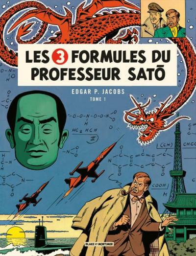 Couverture Blake et Mortimer tome 11 - les 3 formules du professeur Satô tome 1 - Nouvelle édition
