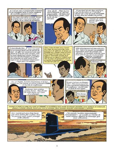 Page 9 Blake et Mortimer tome 11 - les 3 formules du professeur Satô tome 1 - Nouvelle édition