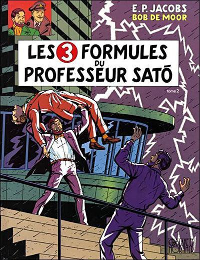 Couverture Blake et Mortimer tome 12 - Les 3 formules du Professeur Satô 2