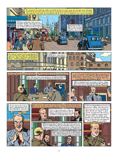 Page 3 Blake et Mortimer tome 13 - l'affaire Francis Blake