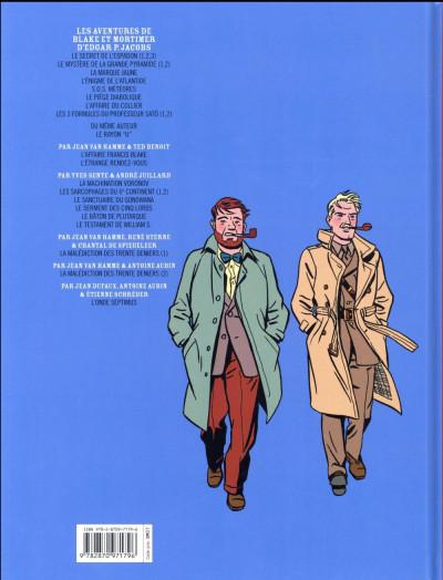 Dos Blake et Mortimer tome 15 - l'étrange rendez-vous