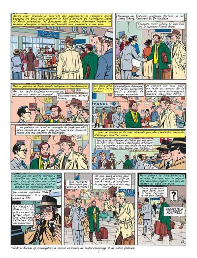 Page 7 Blake et Mortimer T.15 - l'étrange rendez-vous