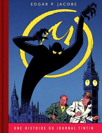 Couverture Blake et Mortimer tome 6 - la marque jaune - version journal Tintin