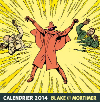 Couverture Blake et Mortimer - calendrier 2014