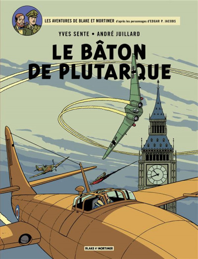 Couverture Blake et Mortimer tome 23 - Le bâton de Plutarque