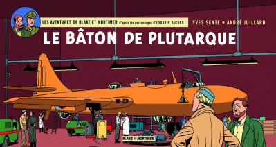 Couverture Blake et Mortimer tome 23 - le bâton de Plutarque (version strips)