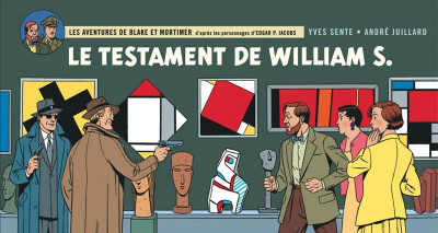 Couverture Blake et Mortimer - version strips tome 24 - Le testament de William S.