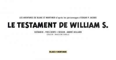 Page 3 Blake et Mortimer - version strips tome 24 - Le testament de William S.