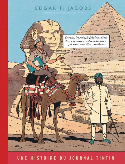 Couverture Blake et Mortimer tome 4 - Le mystère de la grande pyramide I (version journal Tintin)
