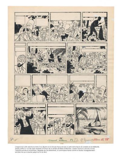 Page 9 Blake et Mortimer tome 4 - Le mystère de la grande pyramide I (version journal Tintin)