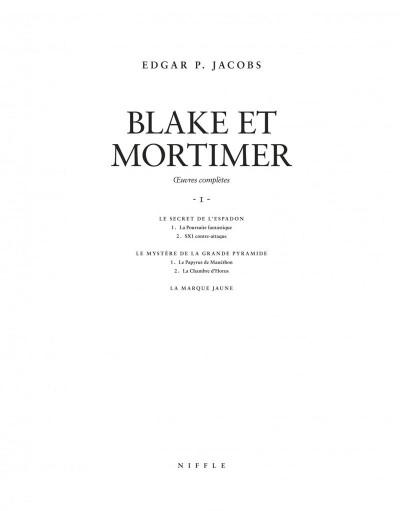 Page 2 Blake et Mortimer - intégrale tome 1